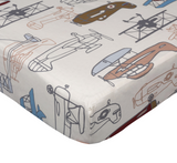 Lolli Living Crib Fitted Sheets - Aeroplanes Print
