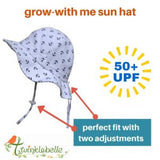 Jan and Jul By Twinklebelle Grow-With-Me Sun Hat - Navy Pineapple