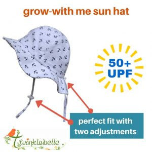 b7e4c1ae820 Twinklebelle Grow-With-Me Sun Hat - Navy Pineapple – Forever Youngsters