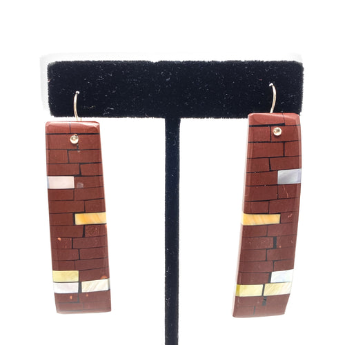 Earrings Mosaic Pipestone