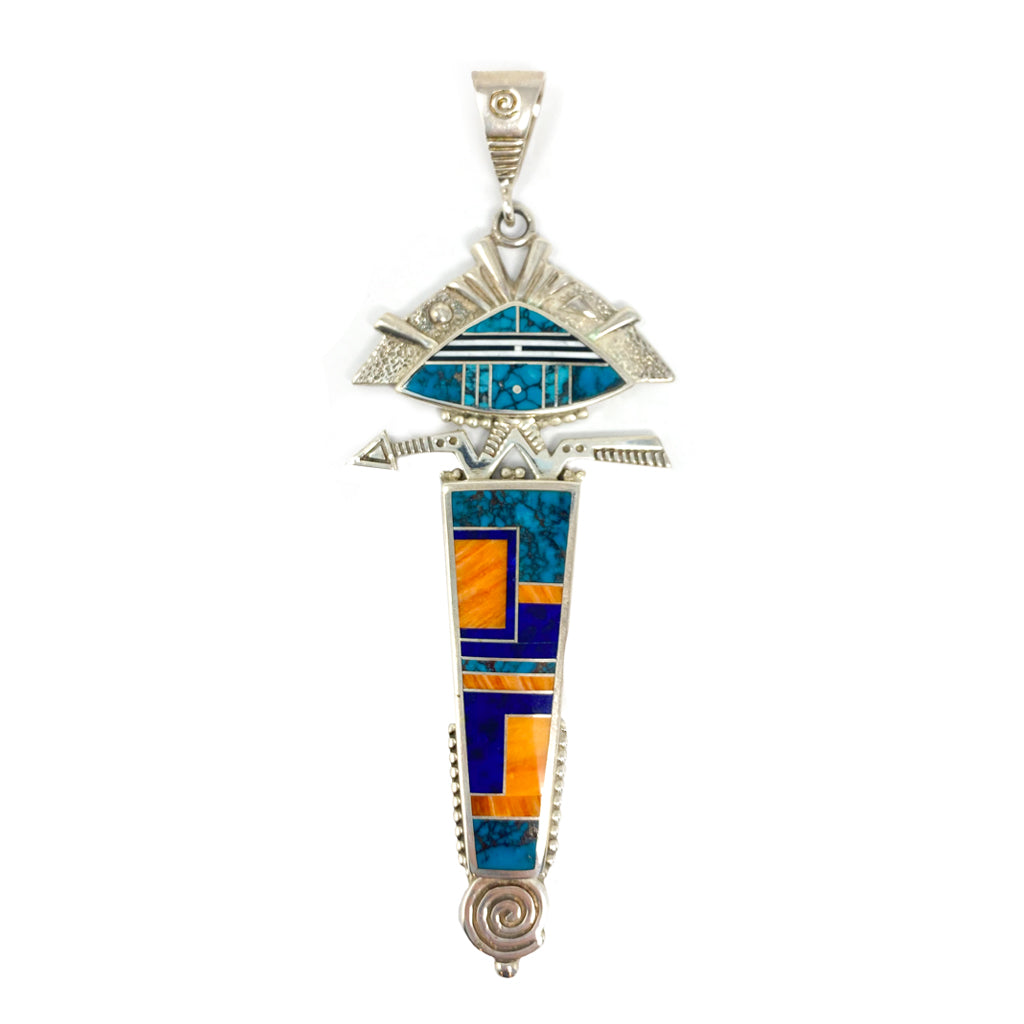 Silver Pendant by Ray Tracy (Navajo)