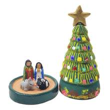 Nativity with a Christmas Tree