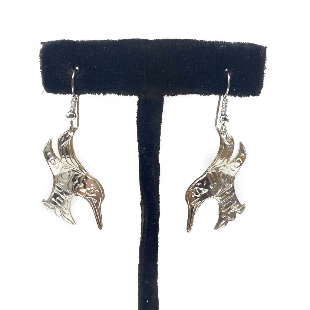 Earrings Silver Hummingbird