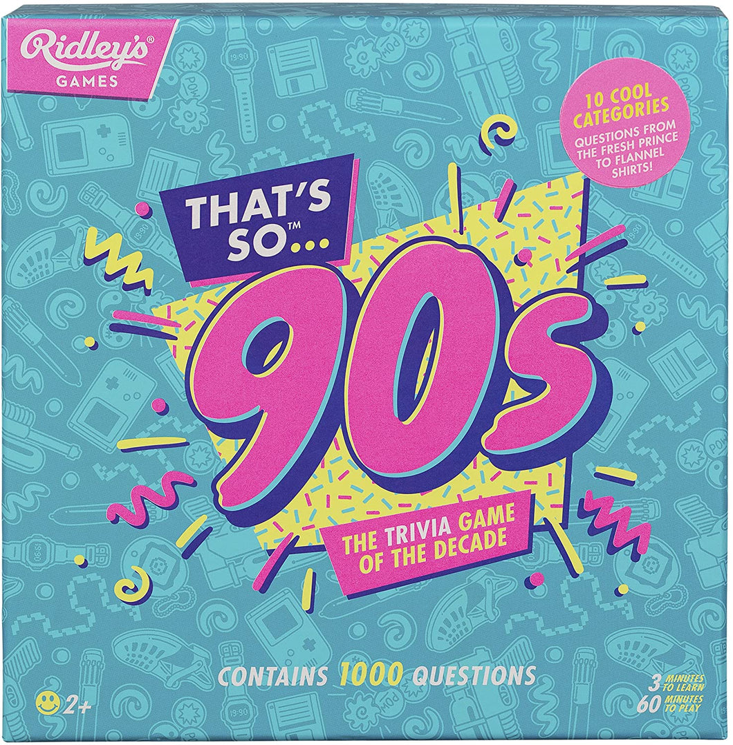 Ridley's Games That's so 90s Quiz