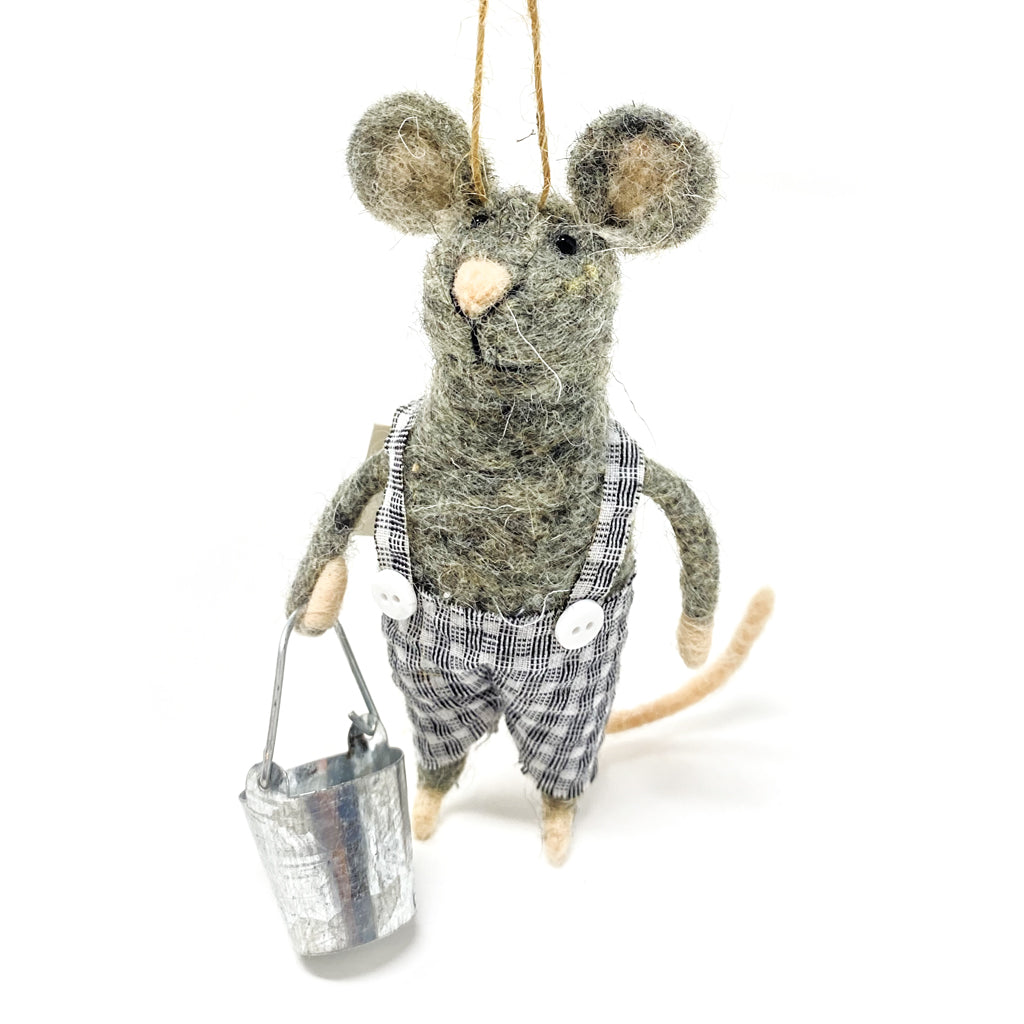 Ornament Felt Boy Mouse