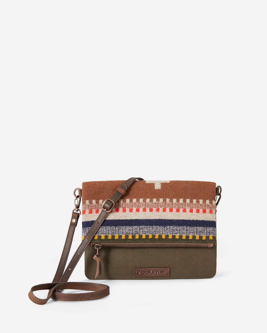 Pendleton Foldover Clutch Bridger Stripe