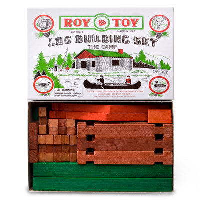 Roy Toy Log Building Set