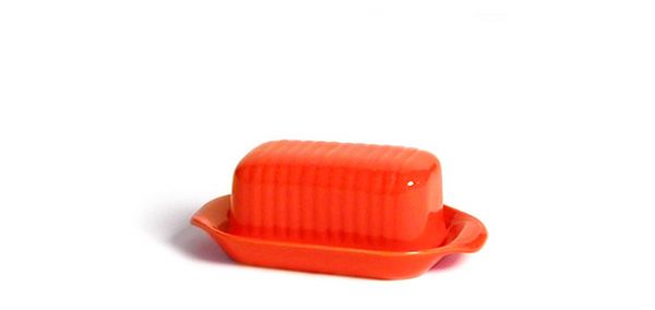 Bauer Butter Dish Orange