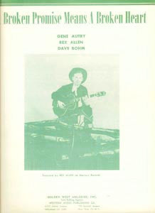 Songs Gene Autry Sings Sheet Music Set