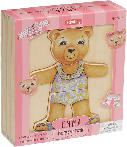 Schylling Emma Moody Bear Wooden Puzzle