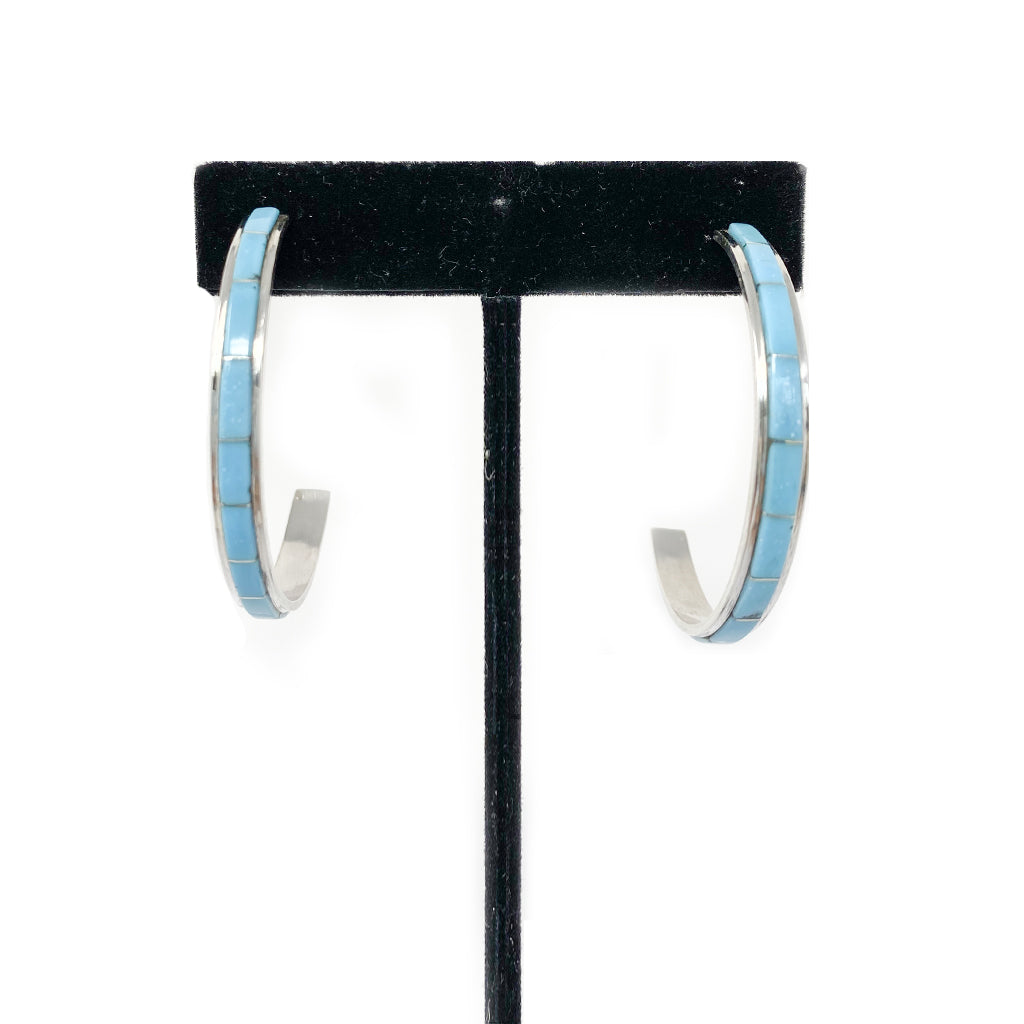 Earrings Hoop Turquoise by Antonio Duran