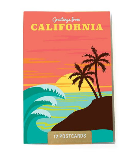 California 12 Postcatd Set