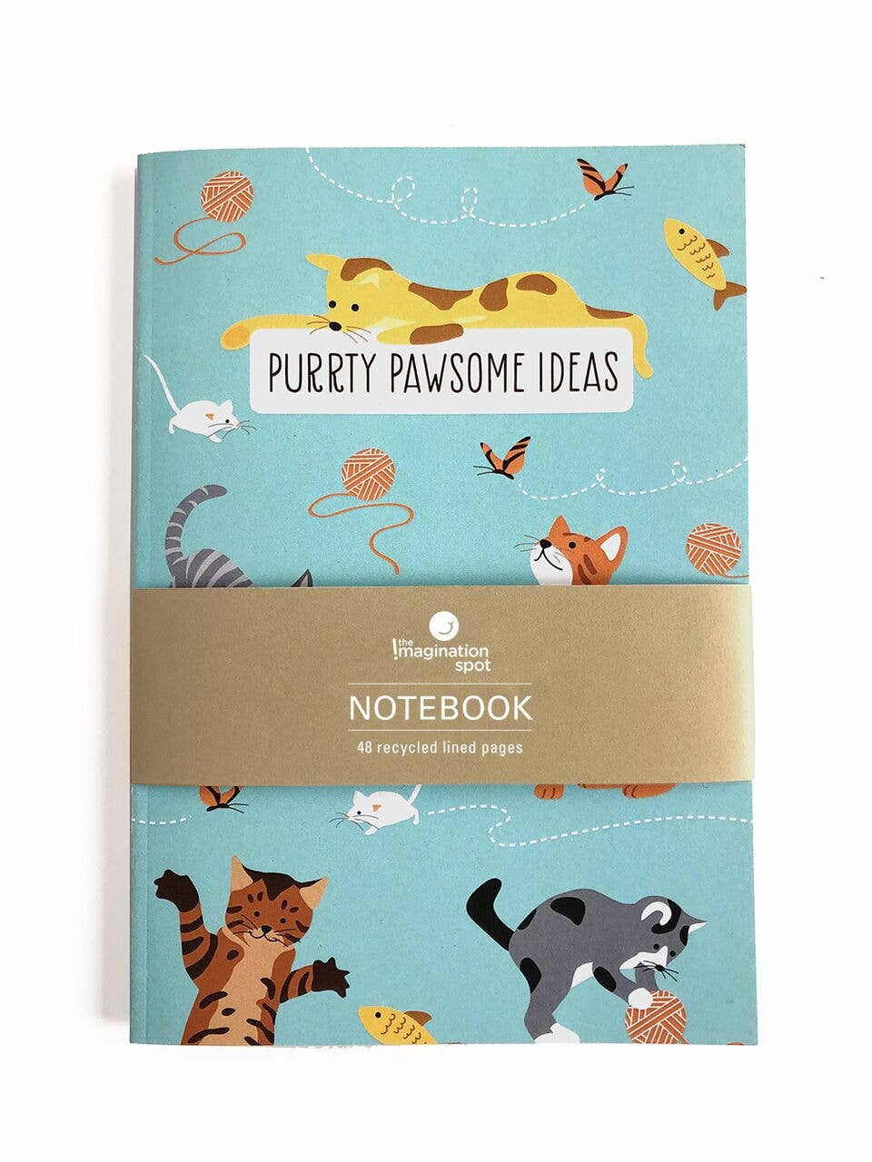 Purrty Pawsome -  Cat Notebook