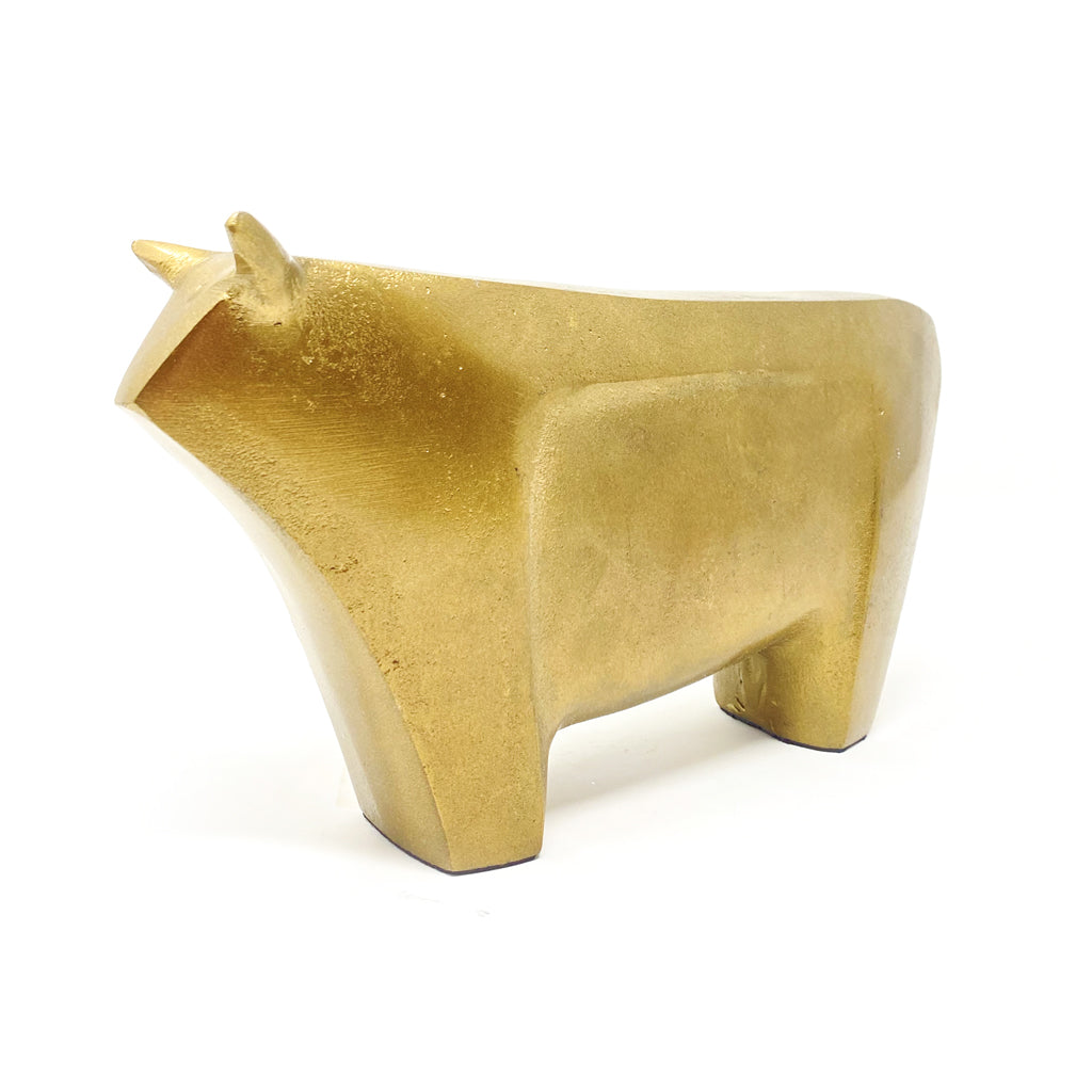 Bull  Brass Plated  8