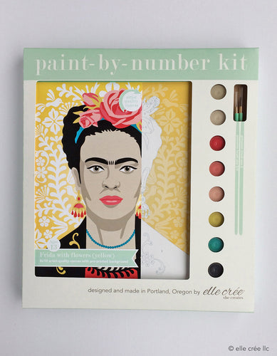 Painy by Number Frida with Flowers