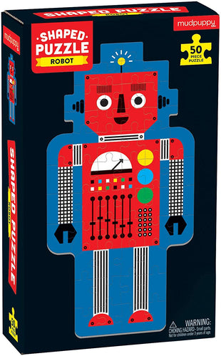 Robot 50 Piece Shaped Puzzle