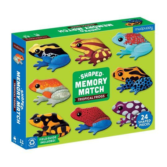 Memory Match game Tropical Frogs