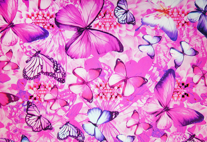 Pink & Blue Butterfly - Kansas Hydrographics