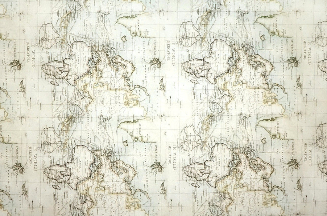Vintage World Map - Kansas Hydrographics
