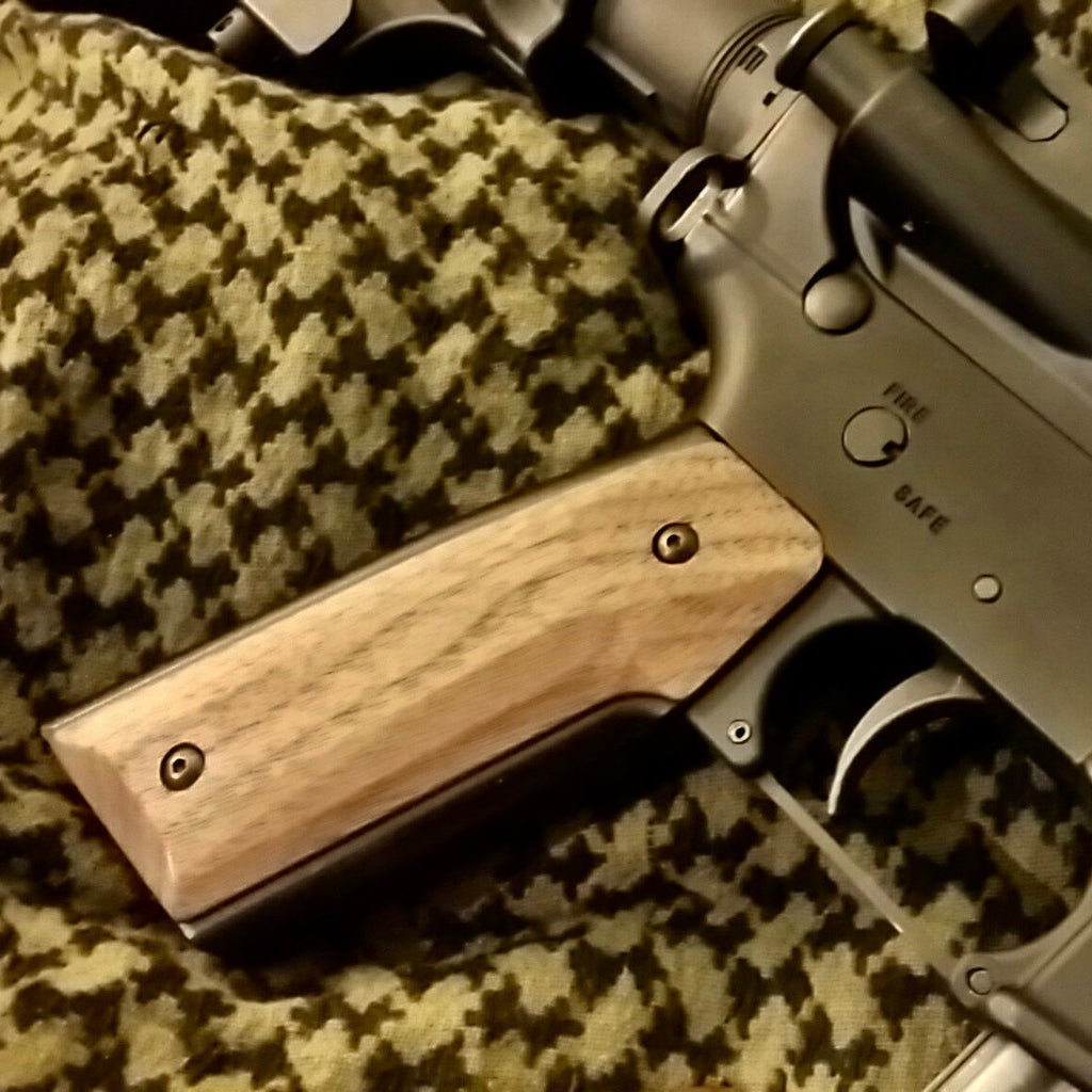 Wood AR-15 Grips In Final Production