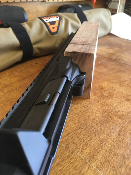 Wood B AR-15's forgrip fitted 2
