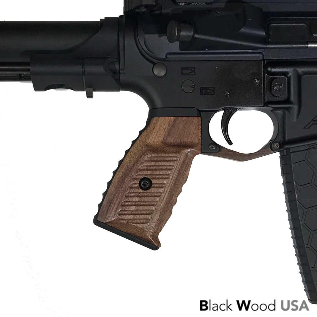 Wood AR-15 Grip