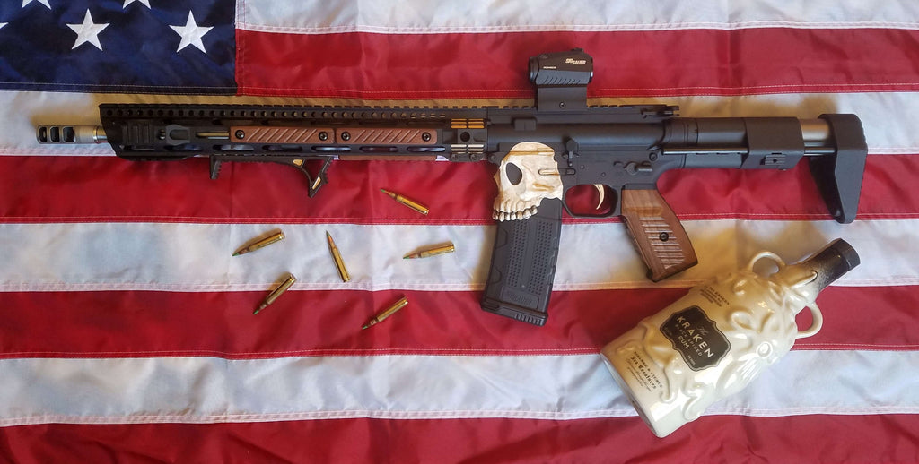 Wood AR-15 Build, Queen Anne's Revenge