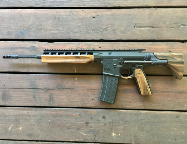Wood AR-15 Grips on BAR-15