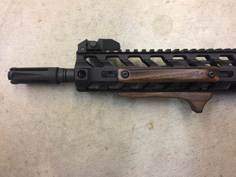 Wood AR-15 Rail Panels and Stop