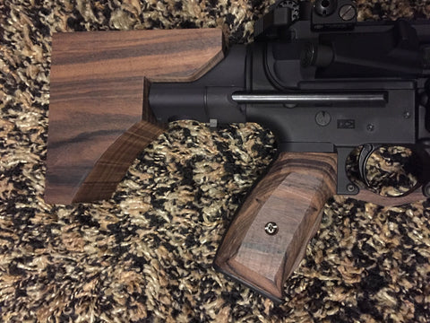 Wood AR-15 Stock and Grips