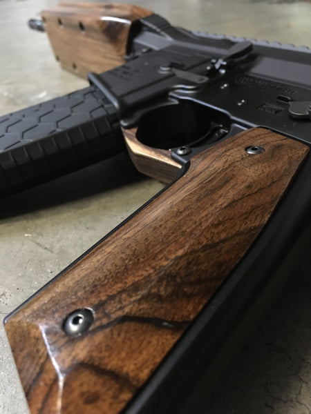 Wood AR-15 Grips on the BAR-15