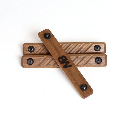 Wood AR-15 Rail Panels, Walnut - Black Wood USA