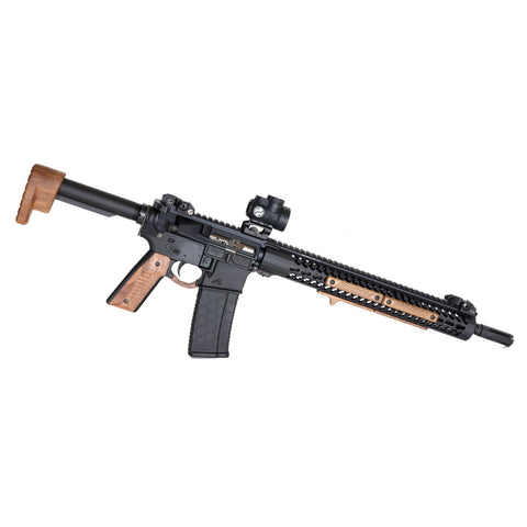 Wood AR-15 Furniture Fixed Stock Set, Walnut - Black Wood USA