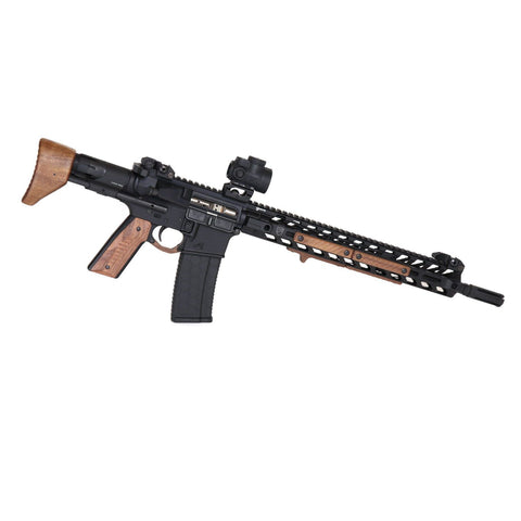 Wood AR-15 Furniture Set, Walnut - Black Wood USA