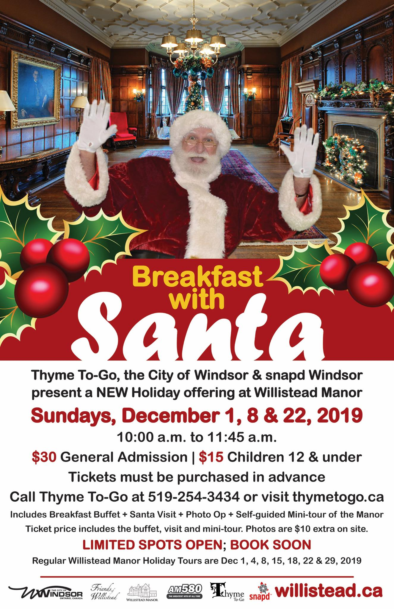 Willistead Breakfast With Santa