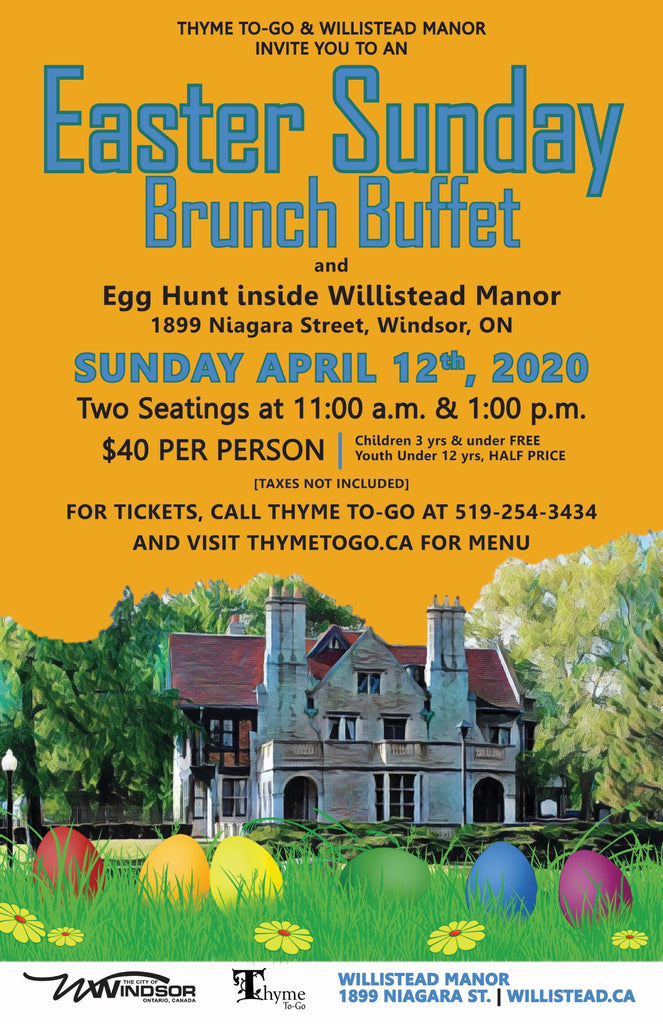 Willistead Easter Brunch Tickets - Aged 12>