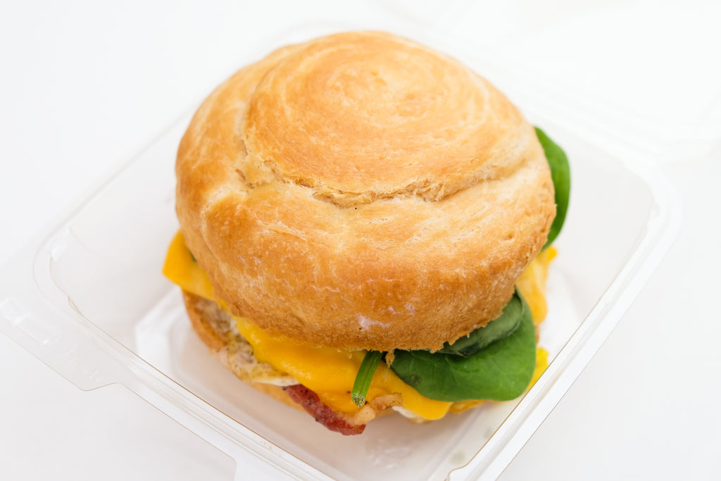 TK Breakfast Sandwich on Croissant Roll