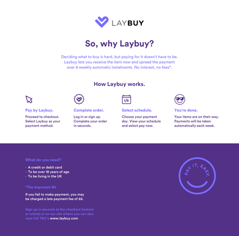 LAYBUY HOW IT WORKS