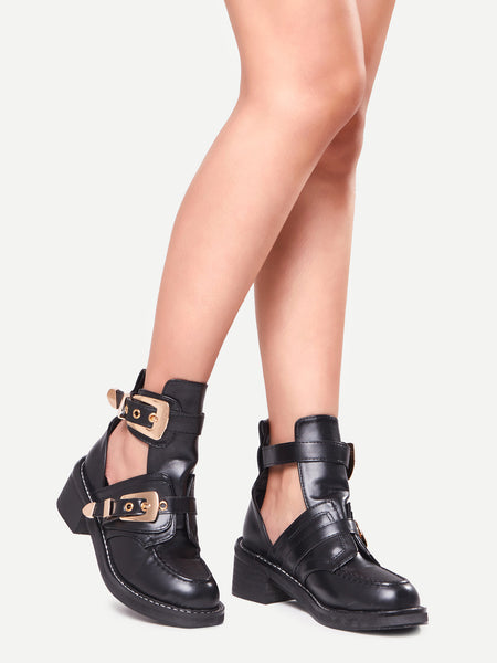 VICTORY ankle boots gold buckle - SUITE 23