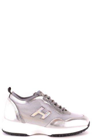 Hogan Women Silver Sneakers - SUITE 23