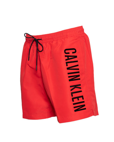 Calvin Klein Swim Side Block Swim Shorts Men's Red - SUITE 23