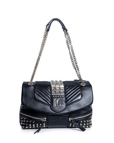 la carrie bag black with studs