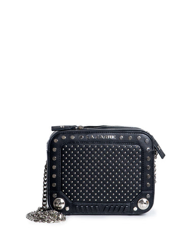 la carrie black box bag studs