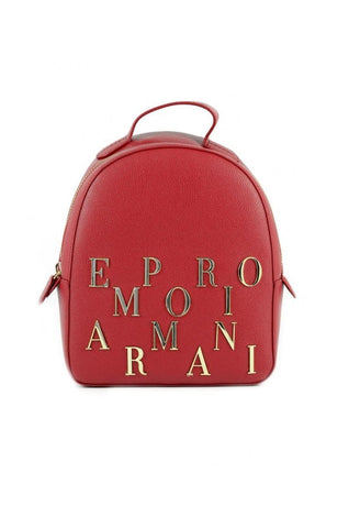 Emporio Armani Gold Logo Red Backpack - SUITE 23