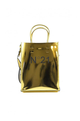 N21 Logo Women Gold Shopping Bag - SUITE 23