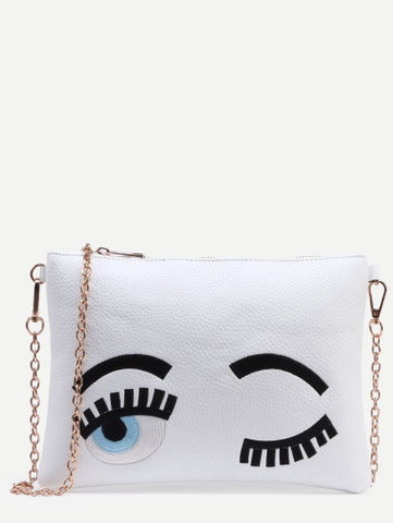 FLIRTING EYES BAG WHITE - SUITE 23