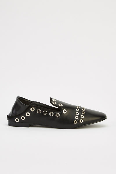 KYLIE studded slip on black - SUITE 23