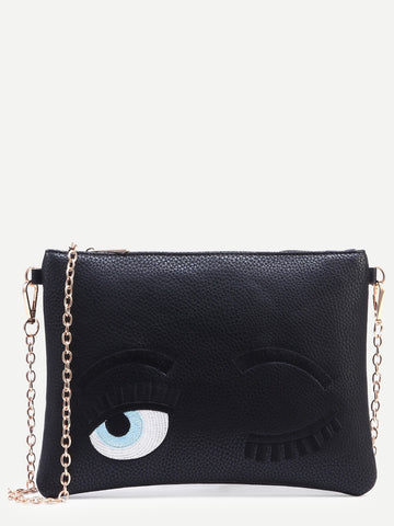 BLACK FLIRTING EYES BAG - SUITE 23