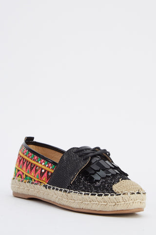 AZTEC lace up espadrilles - SUITE 23