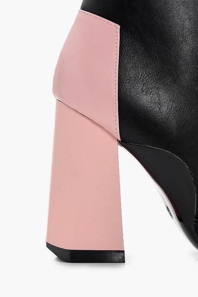 TRUFFLE ankle  boots pink heel - SUITE 23